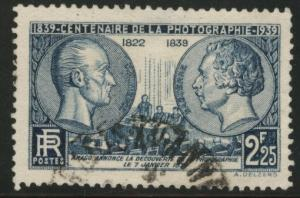 FRANCE Scott 374 used 1939 Centenary of photography stamp