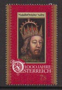 Austria    #B1710e  MNH  1996  Austria millennium  7s   Rudolf IV