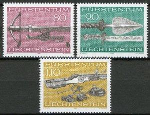 Liechtenstein 1980, Hunting weapons set VF MNH, Mi 751-53 cat 4,4€
