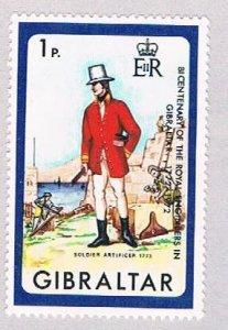 Gibraltar Soldier 1p - pickastamp (AP103501)