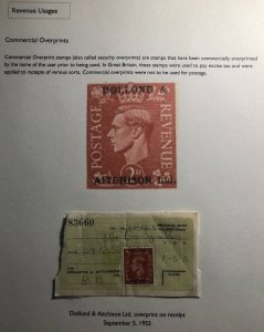 1953 England Dollond & Aitchison Receipt Cover Commercial Over print Stamp