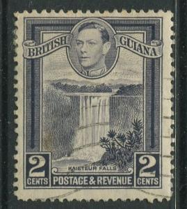 British Guiana - Scott 231 - KGVI- Definitive -1938 - FU - Single 2c Stamp