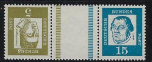 Germany Bund Scott # 824, 828, label, mint nh, tete beche, Mi # KZ2