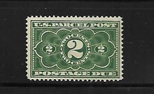 USA, JQ2, MINT HINGED HINGE REMNANT, NUMERAL POSTAGE DUE