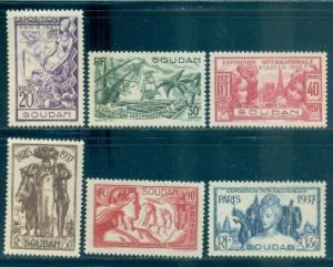 French Sudan #106-111  Mint  Scott $11.20