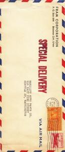 1951, Brigham City, UT to Seattle, WA, Airmail, Special Delivery (17928)