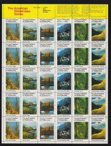 US 1975 American Wilderness Series Mint Cinderella Stamp Sheet Vol 3  # 1