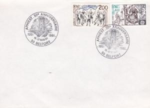 France 1981 Event Cover Clean Unaddressed  VF Scott 1737-38 Aphiest at Belfort