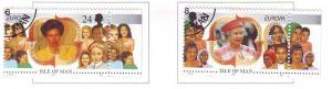 Isle of Man Sc 679-80 1996 Europa stamp set used