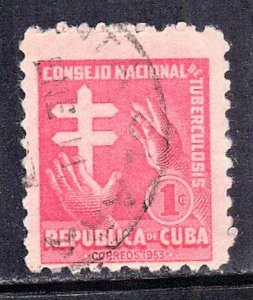 CUBA SC# RA21  **USED** 1953  1c     SEE SCAN