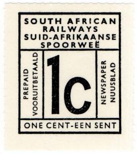 (I.B-CK) South Africa Railways : Newspaper Parcel Stamp 1c