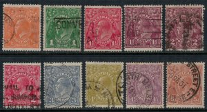 Australia #66-75  CV $55.60
