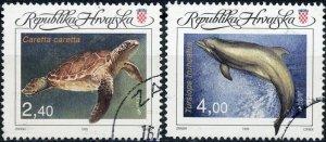 Croatia #248-249 Marine Life  CTO