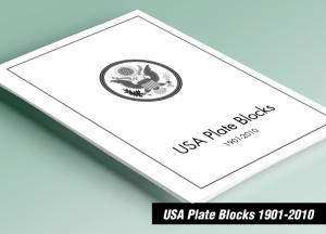 PRINTED USA PLATE BLOCKS 1901-2010 STAMP ALBUM PAGES (733 pages)