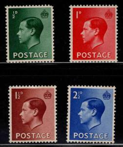 Great Britain Scott 230-233 MNH** 1936 KEVIII stamp set