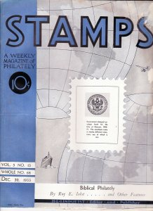 Stamps Weekly Magazine of Philately December 30, 1933 Stamp Collecting Magazine
