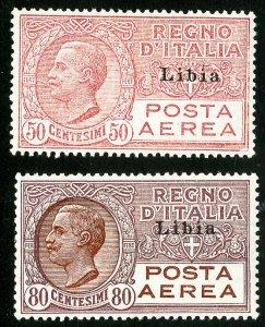 Libya Stamps # C1-2 MLH VF Scott Value $69.00