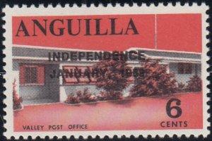 Anguilla 1969 MNH Sc #58 Overprint on 6c Valley Post Office Variety