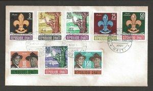 1962 Haiti Boy Scouts 22nd anniversary BP FDC