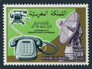 Morocco 381 two stamps, MNH. Mi 850. Telephone call by Alexander Graham Ball.