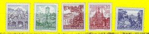 J24851 JLstamps 1961 germany DDR set mnh #535-9 views