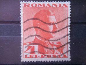 ROMANIA, 1935, used 4l, Scott 451, King Carol II