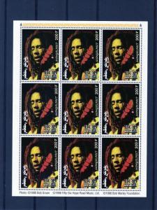 Mongolia 1998 Sc# 2332  Bob Marley-Music Sheetlet (9) MNH