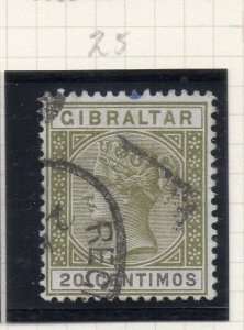 Gibraltar 1898-97 Early Issue Fine Used 20c. 276246