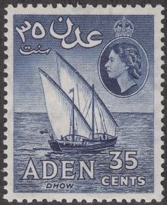Aden #52a Dhow MNH