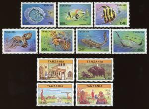 Tanzania Sc #1404 - 1410, 1613 - 1616.  MNH - 2 Complete Sets. 2017 SCV $15.75
