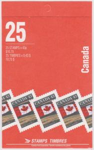 Canada - #BK154Cb - 1994 43c Flag Over Prairie Booklet
