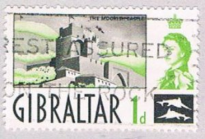 Gibraltar Castle 1d - pickastamp (AP103404)