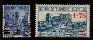 Tunisia #145-146  Used  Scott $7.35