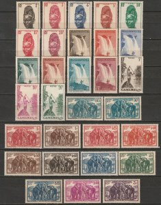 Cameroun 1939 Sc 225-54 Yt 162-91 complete set MNH**/MNG(*)/MH*