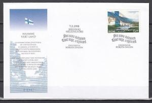 Finland, Scott cat. 1078. National Anthem issue on a First Day Cover.