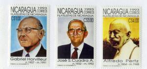 NICARAGUA 2016-2018 MNH SCV $2.75 BIN $1.50 STAMP EXPO