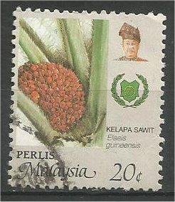PERLIS, 1986, used 20c, Agriculture Scott 69