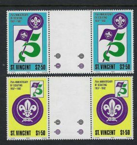 1982 St Vincent Boy Scout 75th anniversary gutter pairs