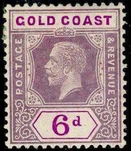 GOLD COAST SG94, 6d dull & brt purple, M MINT. WMK SCRIPT