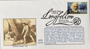 GLEN 4124 Henry Wadsworth Longfellow Slogan Cancel The Song of Hiawatha