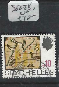 SEYCHELLES  (P3005B)  QEII   10R  MAP  SG 278   VFU