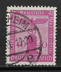 1938 Germany S11 National Socialist German Workers' Party 40pf used