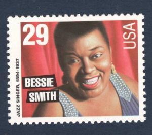 2854 Bessie Smith Jazz Singer US Single Mint/nh (Free Shipping)