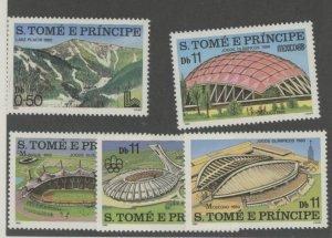 St. Thomas & Prince 567-71 * mint HR (2107 378)