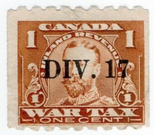 (I.B) Canada Revenue : War Tax 1c (overprint)