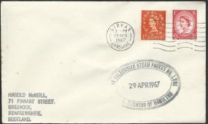 GB SCOTLAND 1967 cover Clyde Steamer cachet DUCHESS OF HAMILTON............48220