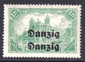 DANZIG DOUBLE OVERPRINT ON GERMANY 112 OG H M/M VF