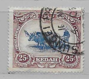 Malaya - Kedah 13 Native Plowing single Used
