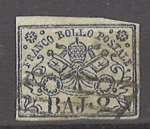 COLLECTION LOT # 2984 ROMAN STATES #3a 1852 CV=$18