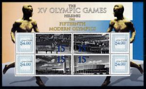 [93094] Antigua & Barbuda 2009 Olympic Games Helsinki Ceremony Sheet MNH